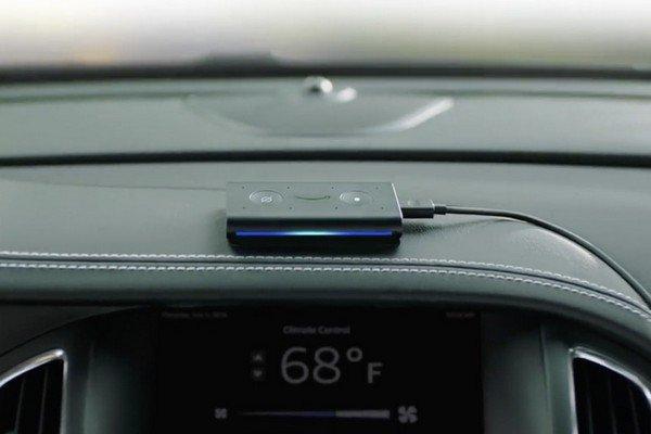 Echo Auto Amazon on car