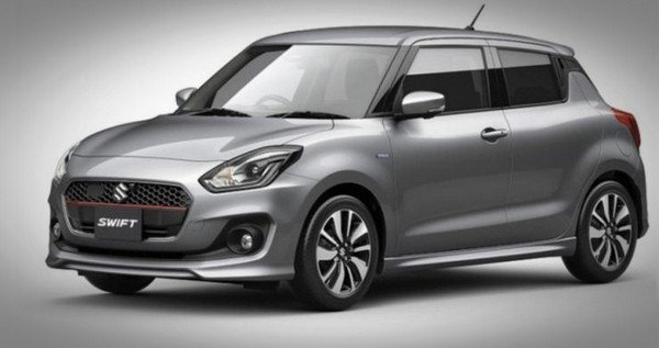 Swift RS grey colour exterior