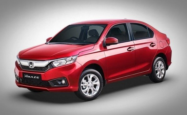 Honda Amaze  2018 red color front look