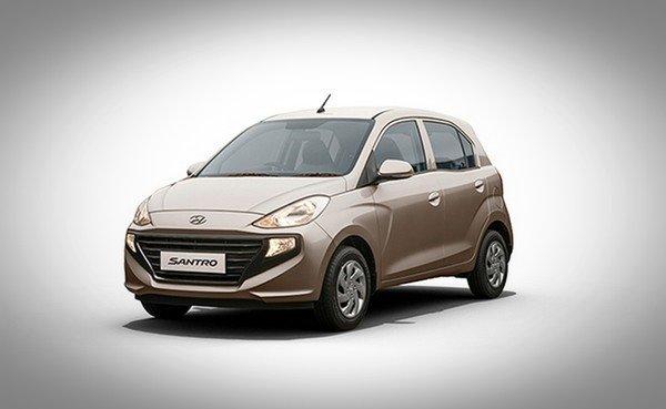 Hyundai Santro golden color angle look