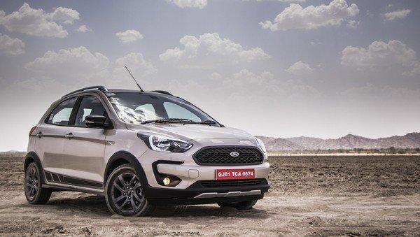 Ford Freestyle 2018 India dual tone angle look