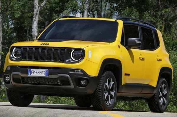 Jeep Renegade, Yellow, Front Left Side