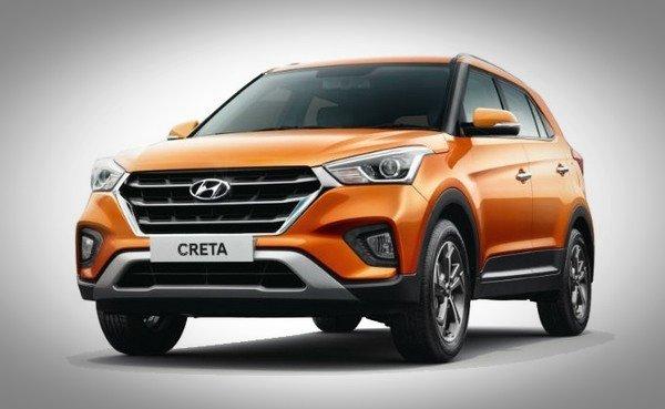 Hyundai Creta side look orange color