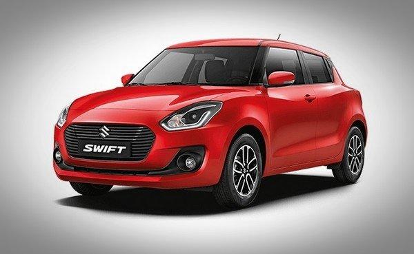 Maruti Suzuki Swift red color front look