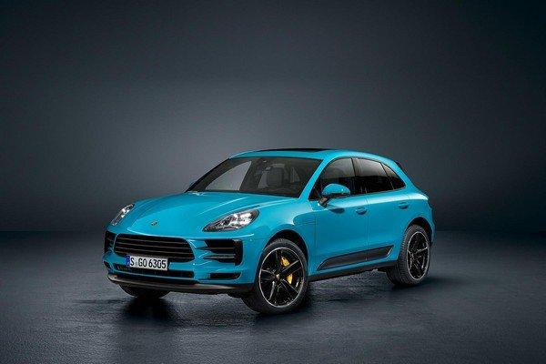 Porche Macan Facelift, Blue