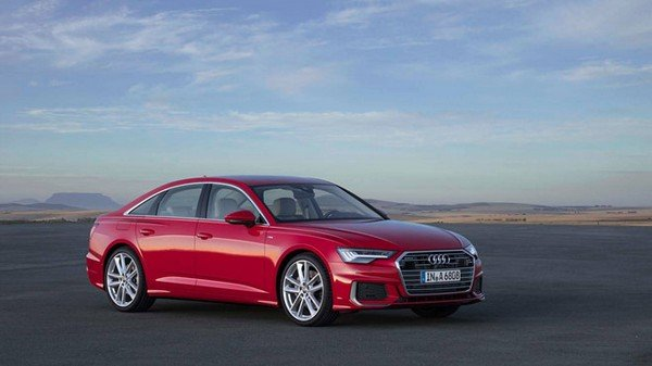 Audi A6 2019 India red color front look