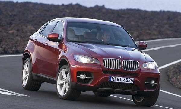 BMW X6, Red Colour, Front Angular Look