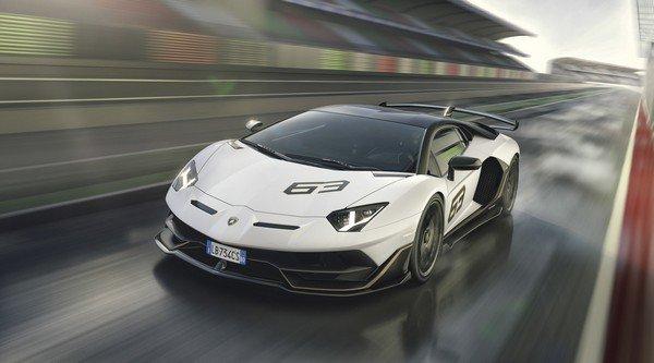 Lamborghini Aventador SVJ 63 2019 on road front look