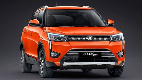 Mahindra XUV300 2019 orange angular look