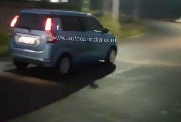 Maruti Suzuki Wagon R running on road with taillight