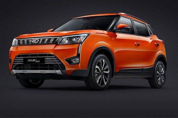 2019 Mahindra XUV300 orange angular look