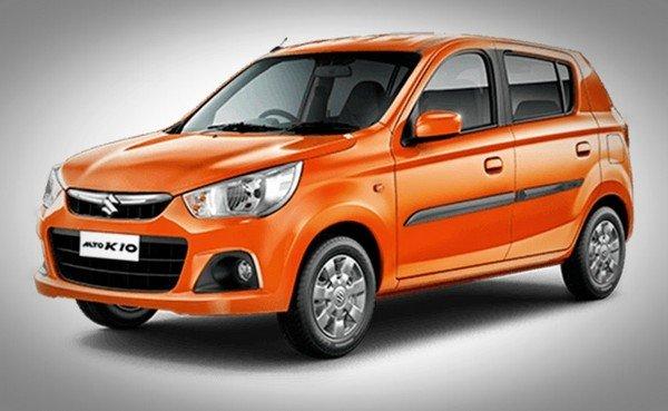 Maruti Suzuki Alto K10 orange angle look