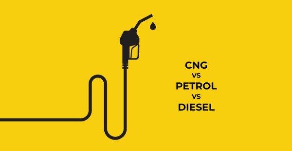 CNG vs petrol vs diesel