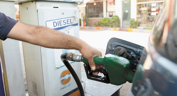 Diesel refueling station in India