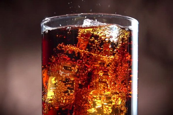a glass of coke