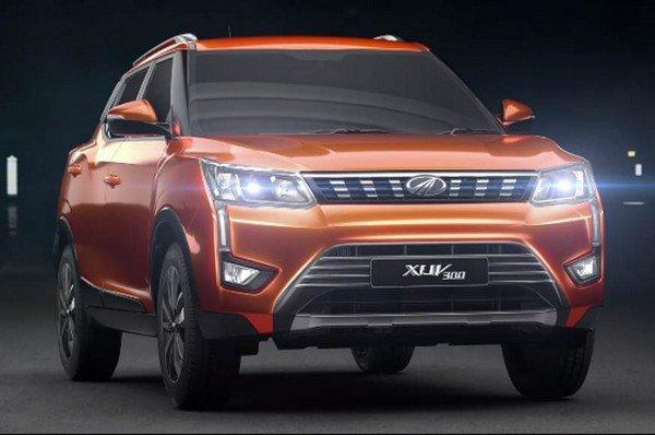 Mahindra XUV300 orange front look