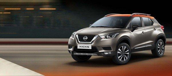 Nissan Kicks 2019 India front look on road