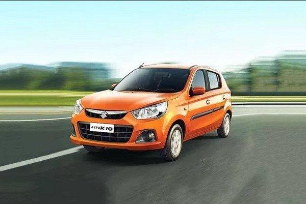 Maruti Suzuki Alto K10, Orange Colour, Front View