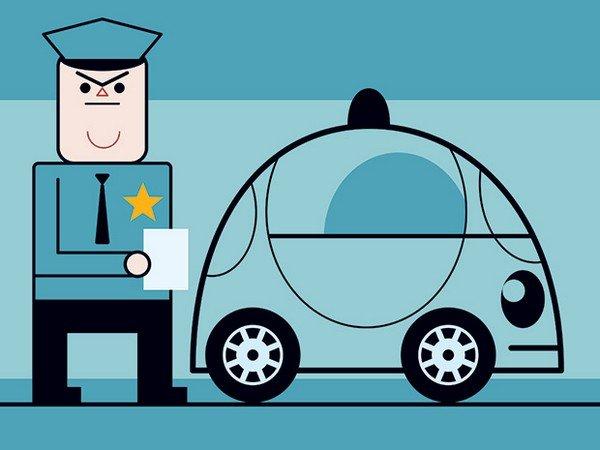 policeman and car animated