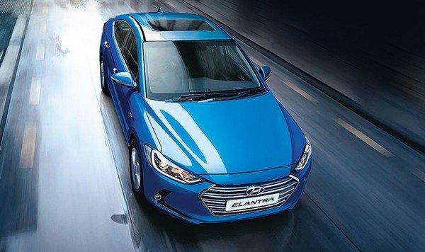 Hyundai Elantra, Blue, Front View