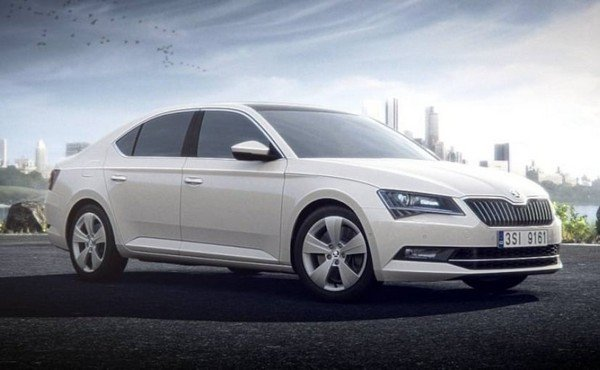 Skoda Superb Corporate Edition, White Colour, Front Angular Look