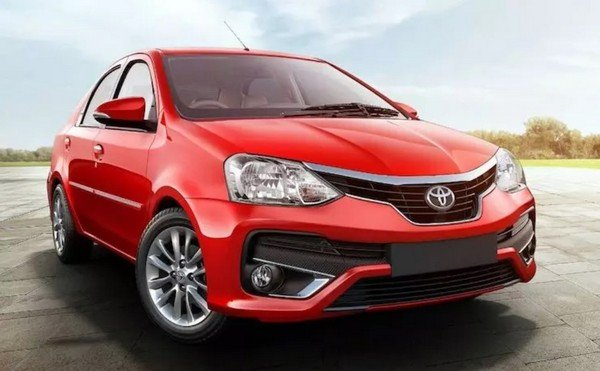 2017 Toyota Etios, Red Colour, Front View