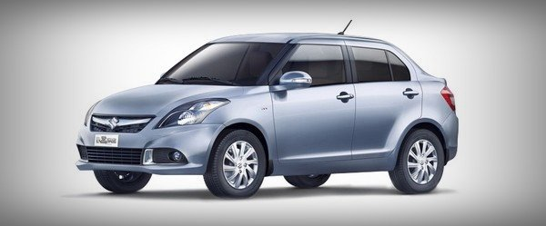 Pre-2009 Maruti Dzire silver side and angle look