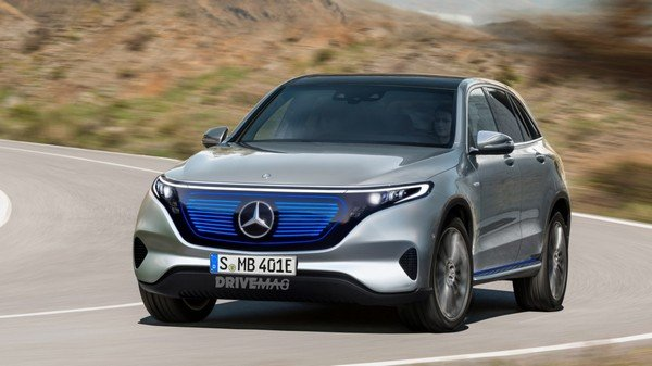 Mercedes EQC 2020 silver right view