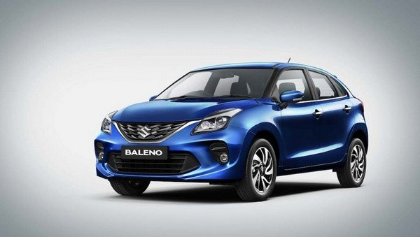 Maruti Baleno Facelift, Blue, Front View
