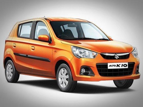 Maruti Alto K10, Orange, Front View