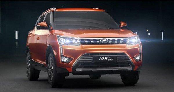 Mahindra XUV300, orange colour, front fascia