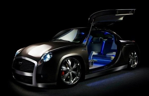 DC Ambieroad, Gull Wing Doors, Front View