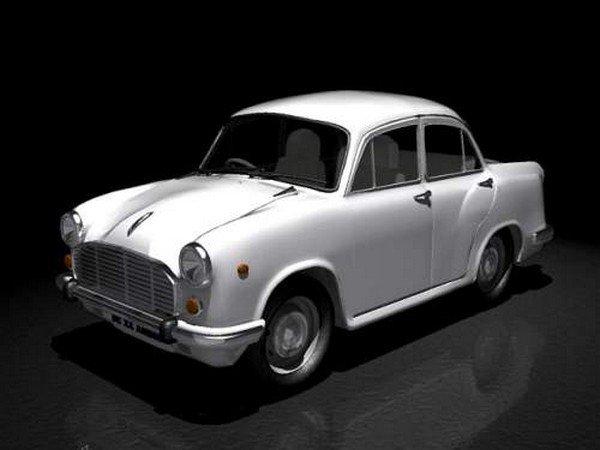 HM car, white, front left side