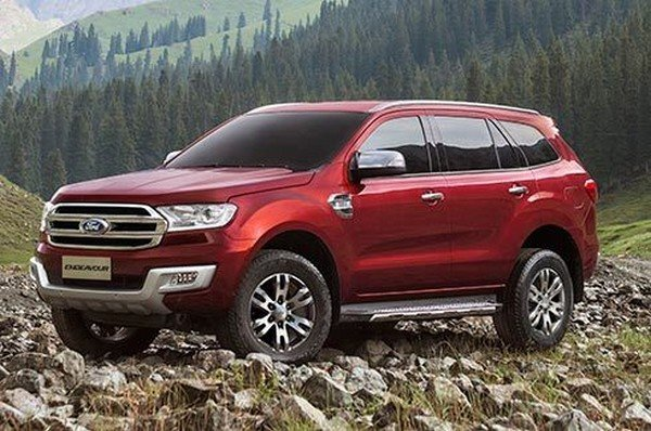 Ford Endeavour, Red, Front Left Side