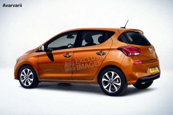 2020 Hyundai i10 orange rear angular look