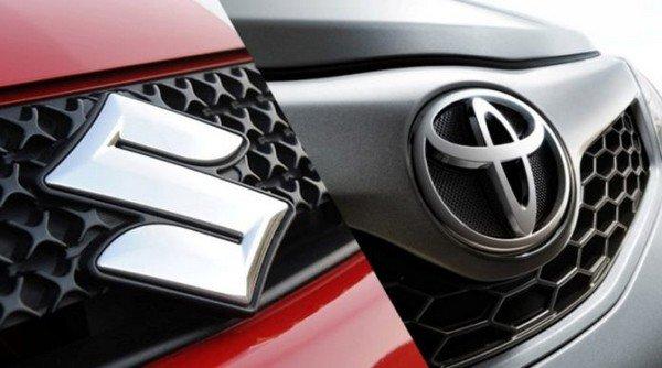 Toyota Maruti badge side to side