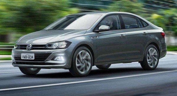 Volkswagen Vento running on road