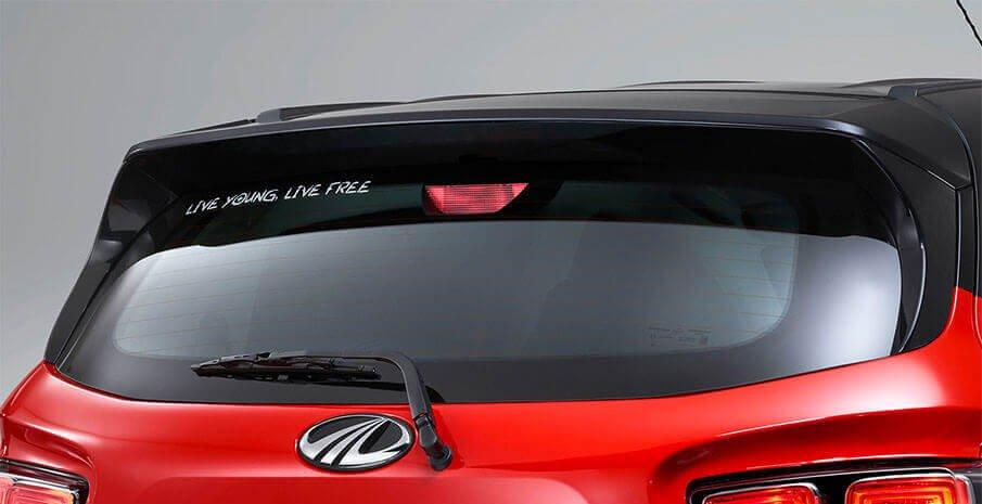 Mahindra KUV100 Exterior rear window red color