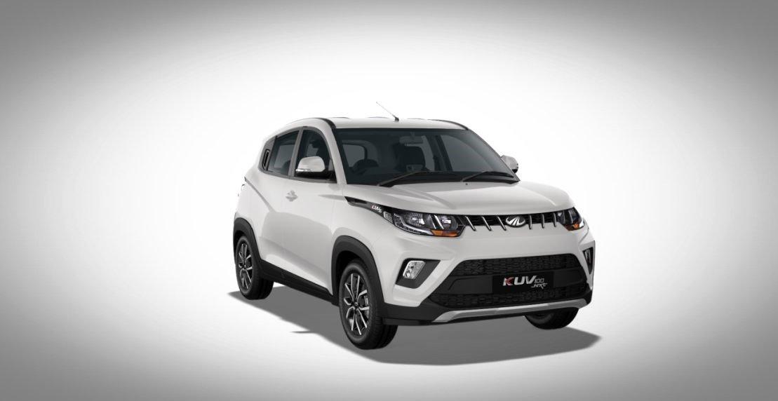 Mahindra KUV100 exterior white colour