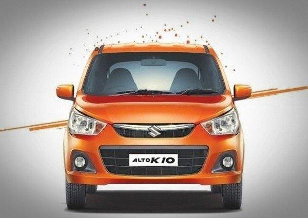 Maruti Alto K10 orange front view