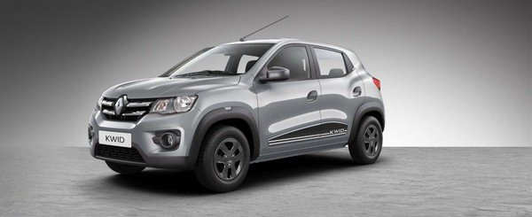 Renault Kwid grey color right side view