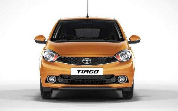 Tata Tiago front view orange