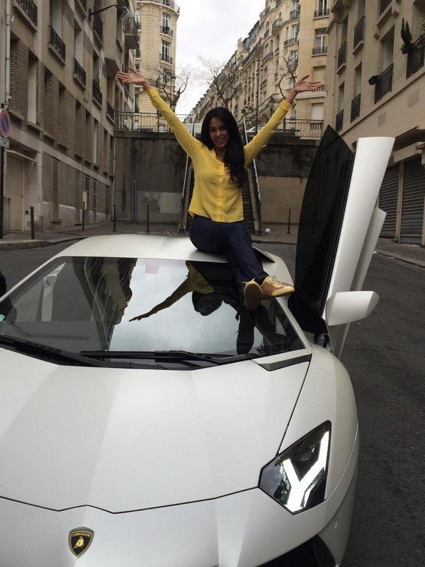 Mallika Sherawat's Lamborghini Aventador is the fastest car in the list