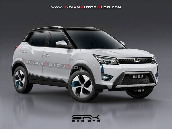 2020 Mahindra XUV300 electric SUV rendered