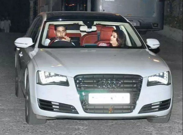 Aishwarya Rai is  often  seen with Audi  A8L