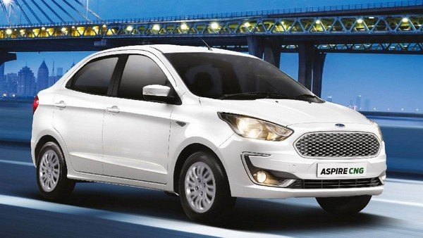 Ford Aspire white three-quater left angle