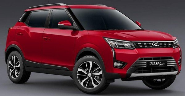 The XUV300 red color 2019