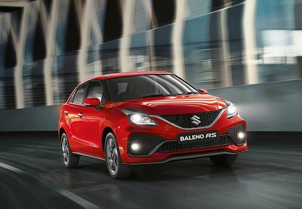 New Maruti Baleno RS red color front look