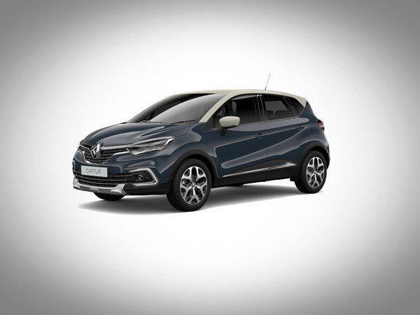 Renault Captur 2017 boston blue with ivory roof colour
