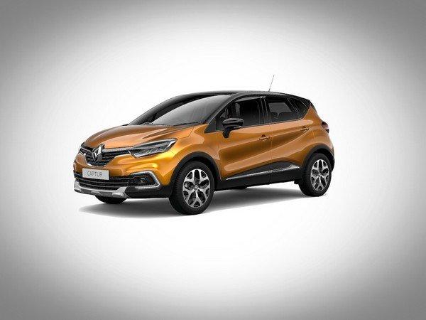 Renault Captur 2017 orange with diamond black roof colour
